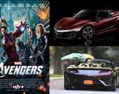 Film: The Avengers/Yenilmezler<br/>Araç: 2012 Acura NSX Roadster concept