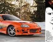 Film: The Fast and The Furious/Hızlı ve Öfkeli<br/>Araç: 1995 Toyota Supra Mk.IV