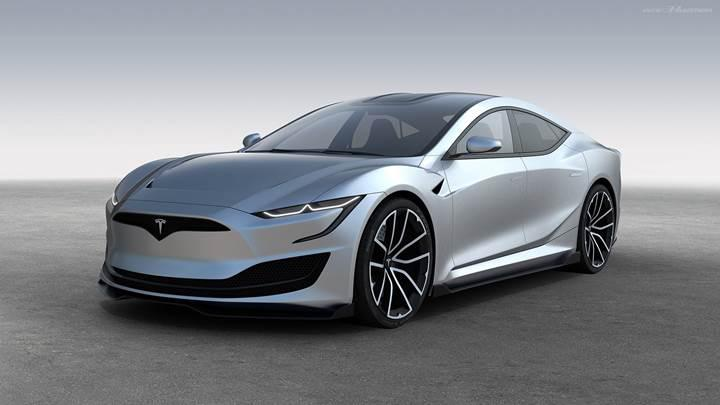 Türk tasarımcıdan etkileyici Tesla Model S çalışması