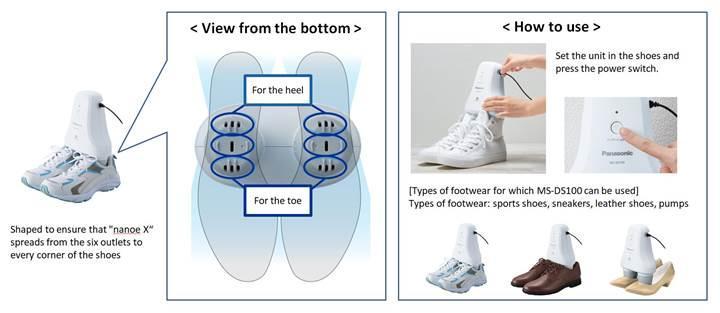 Panasonic ayakkabı kokusunu gideren yeni cihazını duyurdu