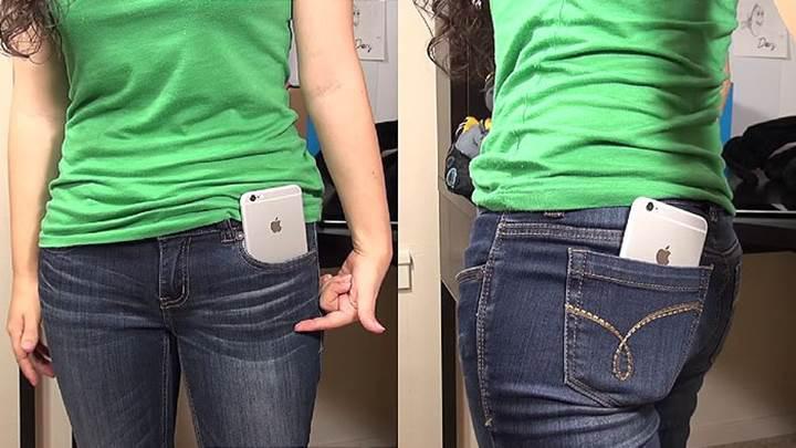 Bir araştırma kadın pantolonlarının ceplerinin iPhone'lar için küçük olduğunu ortaya koydu