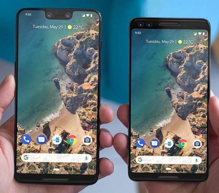 Çentikli ekrana sahip Google Pixel 3 XL çalışırken görüntülendi