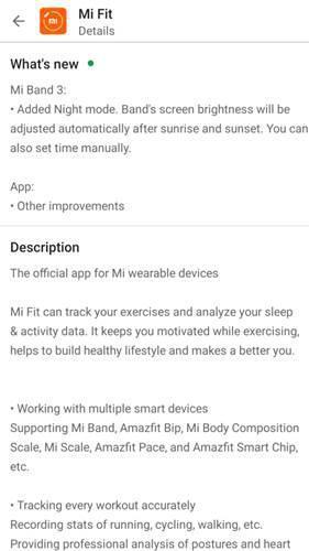 Xiaomi Mi Band 3'e gece modu özelliği eklendi