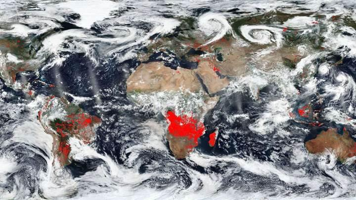 NASA Dünya'nın dört bir yanındaki orman yangınlarının haritasını çıkardı