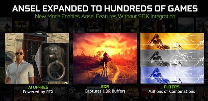 Nvidia RTX kartlarına özel Ansel teknolojisi