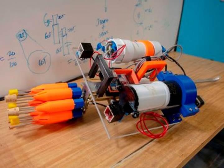 Otonom robotlar aslan balığı avında