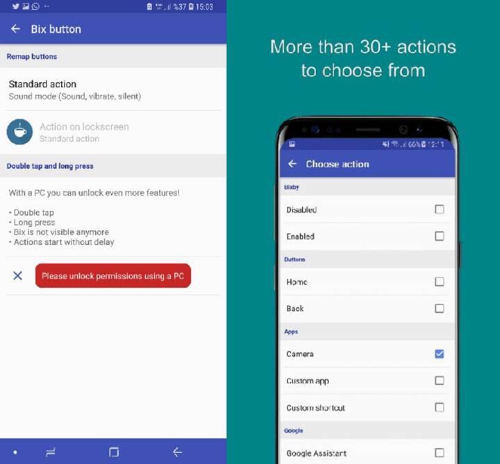 Samsung Galaxy Note 9 Bixby Tuşu bxActions uygulaması ile daha işlevsel