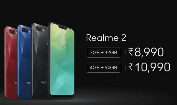 Realme 2 resmi olarak tanıtıldı