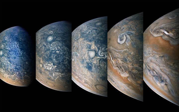 Juno'dan yeni fotoğraflar geldi: İşte Jüpiter'in büyüleyici atmosferi