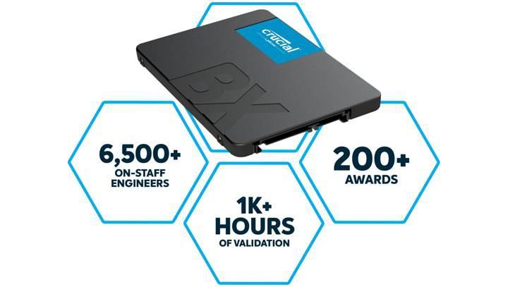 Crucial BX500 SSD serisi duyuruldu