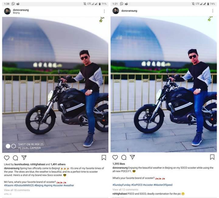 Xiaomi sözcüsü sahte Pocophone F1 fotoğraf örneği paylaşınca yakayı ele verdi
