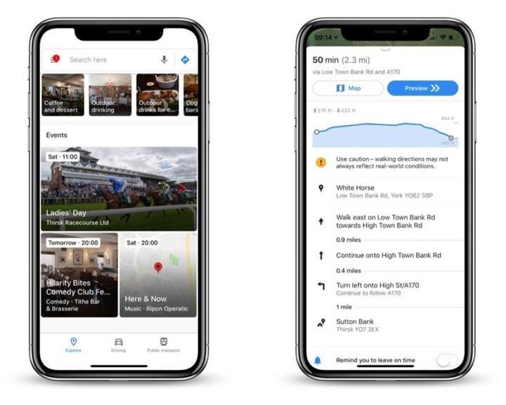 Google Haritalar uygulamasının iOS versiyonu güncelleme aldı