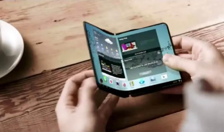 Samsung'un katlanabilir telefonunda, 7.3 ve 4.6 inçlik çift OLED ekran olacak