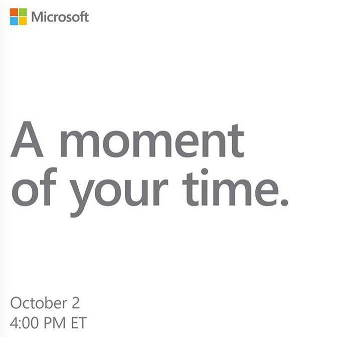 Microsoft, 2 Ekim'de Surface odaklı bir etkinlik düzenleyecek