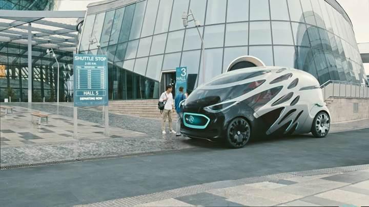 Mercedes, geleceğin ulaşım aracı Vision Urbanetic Concept'i tanıttı
