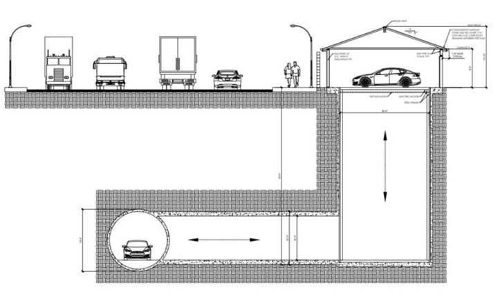 The Boring Company garajları doğrudan tünele bağlayacak