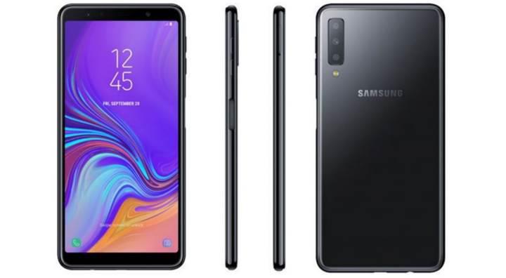 Üç arka kameralı Samsung Galaxy A7(2018) sızdırıldı