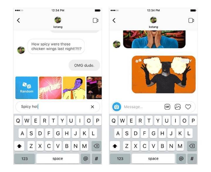 Instagram direkt mesajda GIF desteği sunmaya başladı