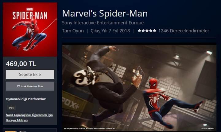 Spider-Man PS4 oyun fiyatına büyük zam!
