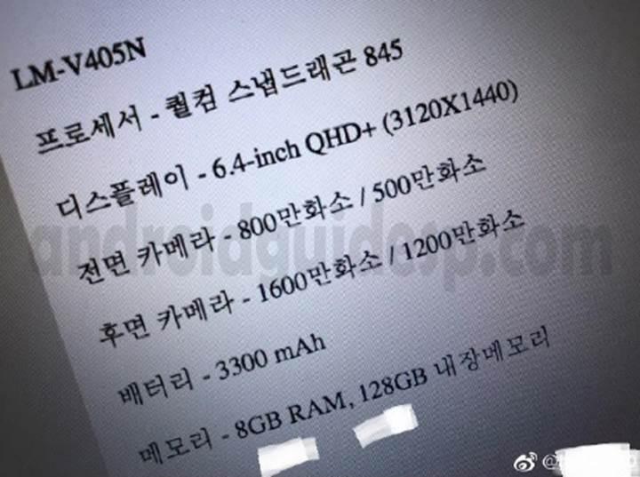 8 GB RAM'li LG V40 ThinQ+ geliyor
