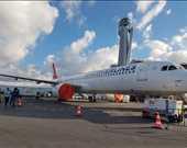 Yeni havalimanına iniş yapan ilk yolcu uçağı