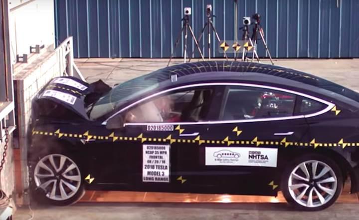 Tesla Model 3'ün NHTSA NCAP sonuçları açıklandı!