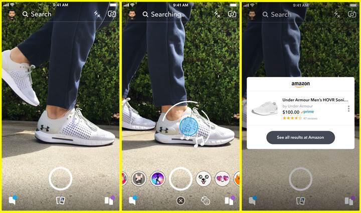 Snapchat, görsel tabanlı alışveriş için Amazon'la işbirliği yapıyor