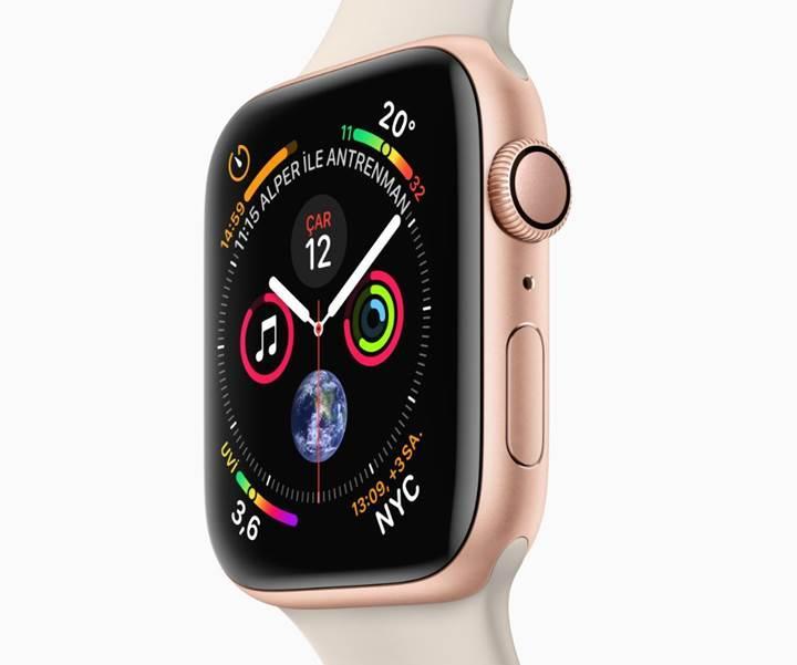 Apple Watch Series 4'te önceki modelden daha küçük bir pil var