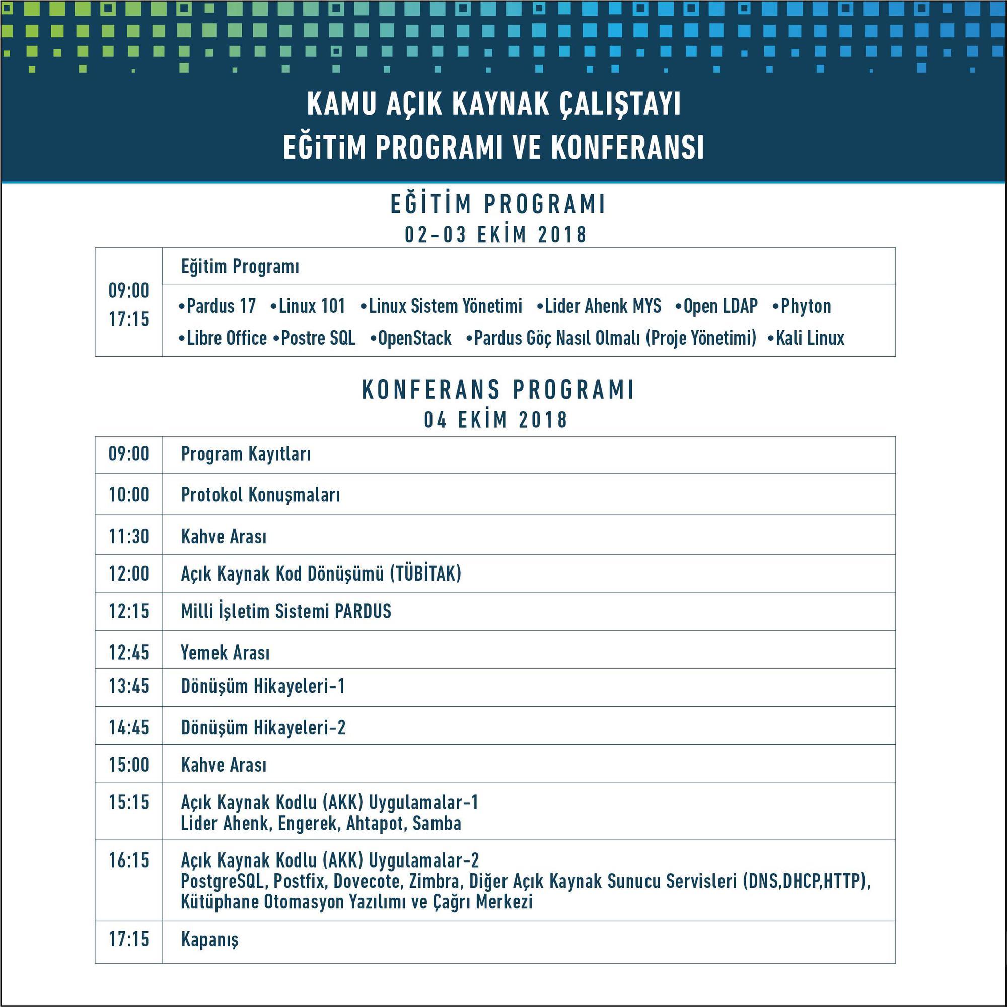 TÜBİTAK önderliğinde açık kaynak işletim sistemi ve yazılımları konferansı
