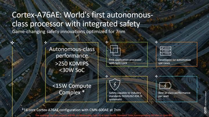 Sürücüsüz araçlara yönelik ARM Cortex-A76AE işlemcisi duyuruldu