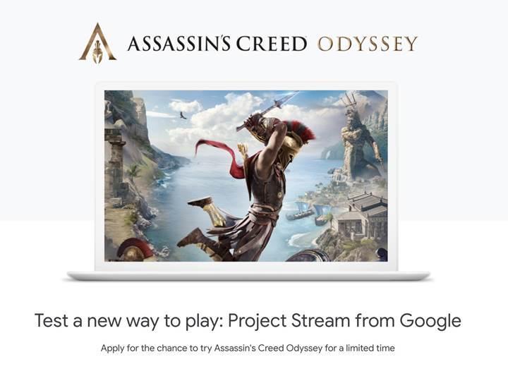 Google'ın çevrim içi oyun akış testleri Assassin's Creed Odyssey ile yapılacak