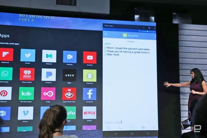 Android uygulamaları Windows 10 ekranına yansıtılabilecek