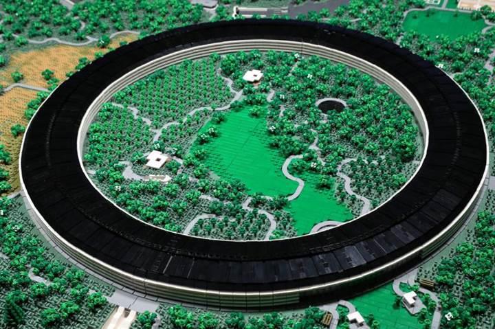 85.000 parçadan oluşan 'LEGO Apple Park' detaylarıyla hayranlık uyandırıyor