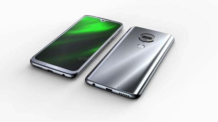 Su damlası çentikli Motorola G7'nin görüntüleri sızdırıldı