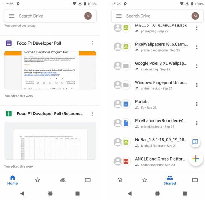Google Drive uygulaması yeni Materyal Tasarım ile güncellendi