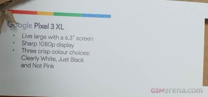 Google Pixel 3 ve Pixel 3 XL'nin ekran özellikleri ve renkleri sızdı
