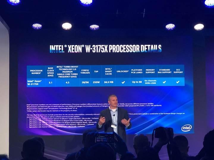 Performans isteyenlere 28 çekirdekli Xeon işlemcisi