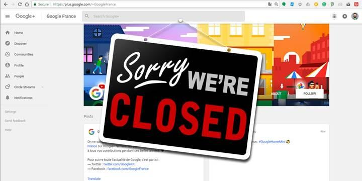 Google Plus platformu kapanıyor