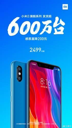Xiaomi Mi 8, dört ayda 6 milyon adet sattı