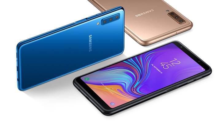 Samsung üç arka kameralı ilk telefonunu resmen tanıttı: Galaxy A7 (2018)