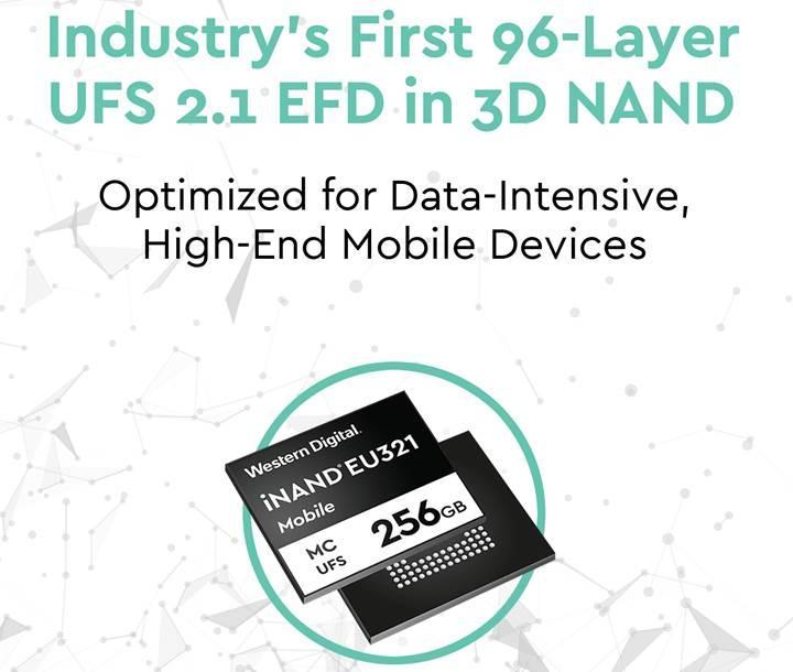 96 katmanlı NAND bellekler ilk olarak mobil cihazlara geliyor
