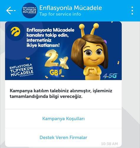 Turkcell, enflasyonla mücadele kapsamında internet paketlerini ikiye katlıyor