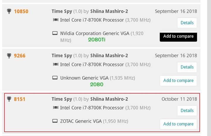 RTX 2070, GTX 1080'den hızlı olacak