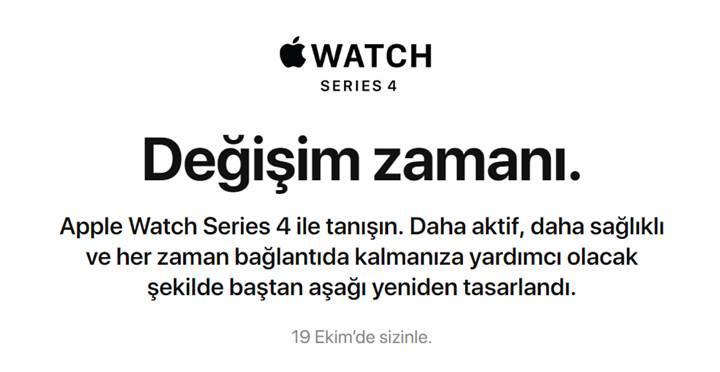 Apple Watch Series 4 çıkış tarihi belli oldu