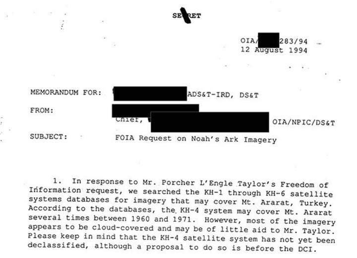 CIA, Ağrı Dağı'nda Nuh'un Gemisi'ni aradı