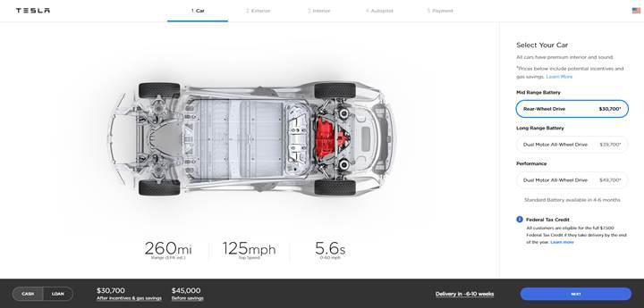 Elon Musk, uygun fiyatlı Model 3'ü tanıttı