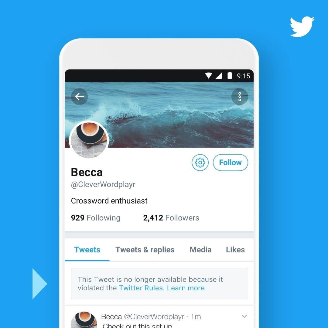 Twitter kural ihlali gerekçesiyle sildiği tweet'ler için bildirim gösterecek