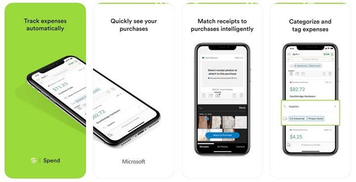 Microsoft, iOS cihazlar için harcama takip uygulaması çıkardı