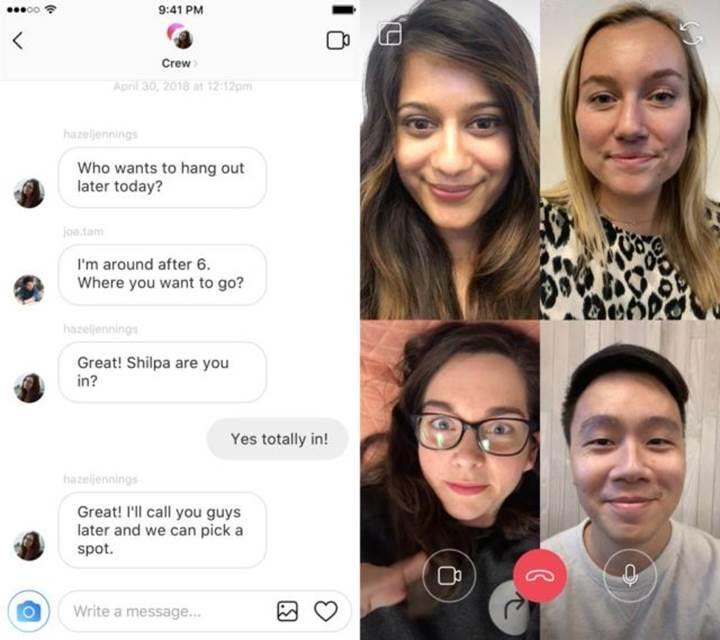 Instagram'ın görüntülü arama özelliği artık 6 kişiye kadar destekliyor