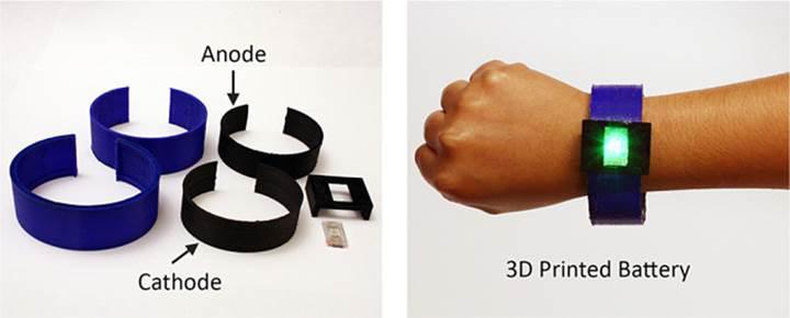 3D Li-ion bataryalar farklı şekillerde basılabiliyor